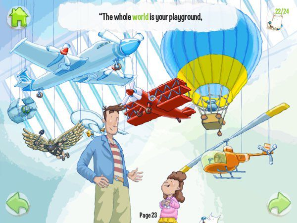 The story encourages kids to be brave and explore the world -- and be assured that their fathers would always be on their sides along the journey.