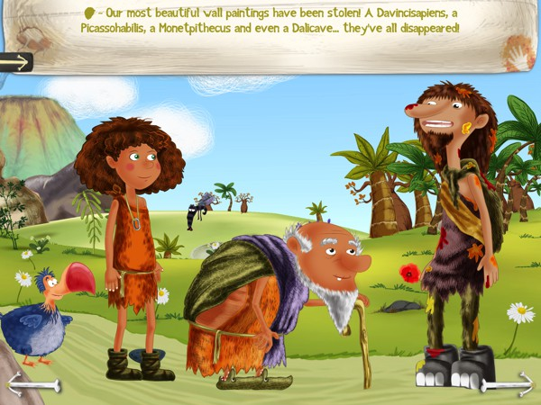 Help Lucy and her pet dodo, Darwin, solve a series of theft in the Prehistoric Mystery app