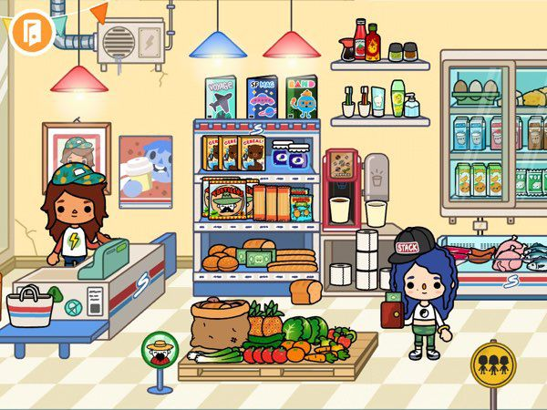 Toca Life: City is filled with many hidden treasures. For example, try to find all the hidden paper money in the supermarket.