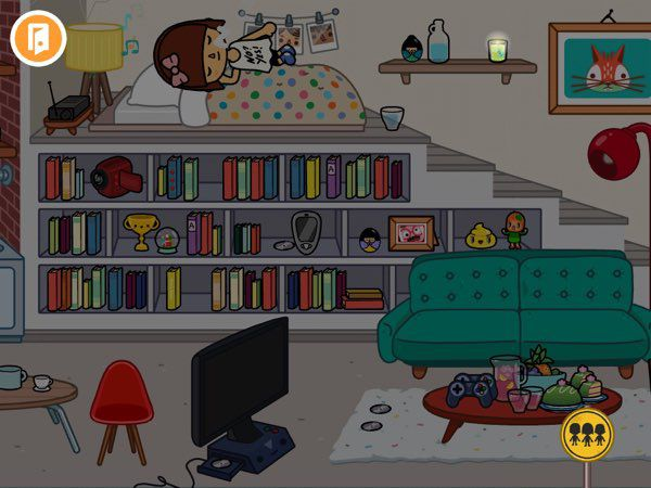 You can control all the lights in Toca Life: City. So when you feel it's time to sleep, you can turn off all the lights in your loft apartment.
