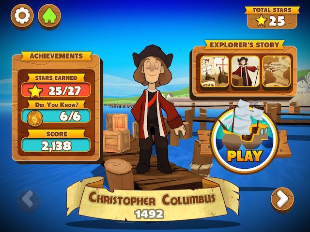 In total, there are five explorers that you can play with, including Christopher Columbus and Vasco da Gama.