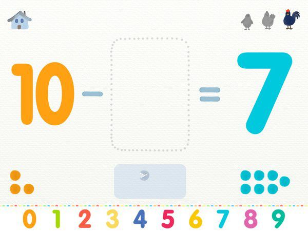 One of the most fun and memorable experience in this app is turning beads into Pac-Man shapes to solve the missing minuend in the subtraction operation.