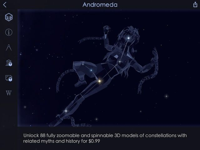 Star Walk 2 allows you to enjoy constellations in a 3D augmented reality view on your iPad.
