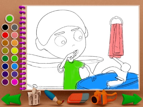 Save Your Planet Kids also allows kids to color their favorite scenes from the main storyline.