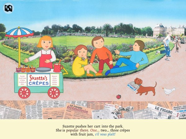 Crêpes by Suzette is a beautifully illustrated storybook based on Monica Wellington's trips to Paris.