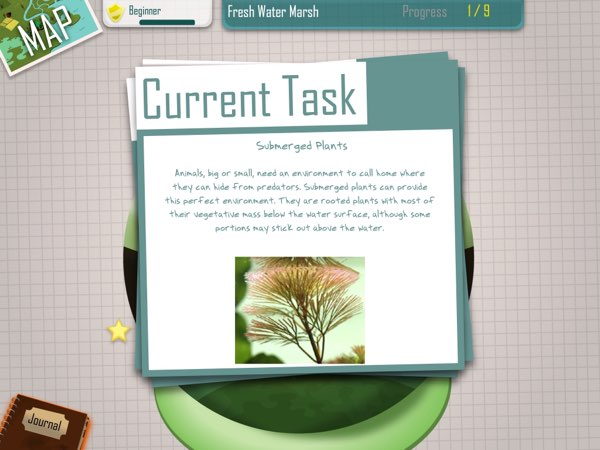 iBiome-Wetland has plenty of fun facts for each of the 50+ species introduced in this app.