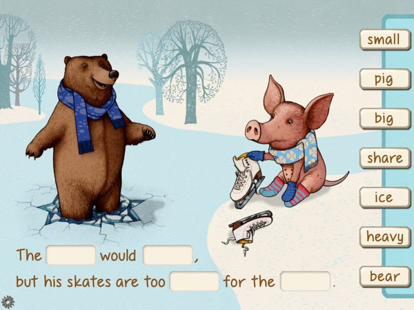 Wit-Fit challenges kids ages 7+ to complete poems by matching words from the sidebar to fill in the blanks.