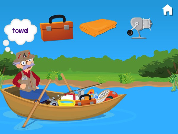 Fishing with Grandpa is a fun activity app that allows children to practice a number of primary skills such as recognizing objects, colors, and numbers
