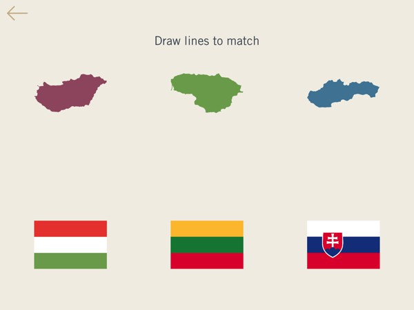 Match the countries to the flag