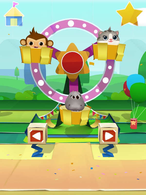 Dr. Panda's Carnival is a funfair-themed activity app suitable for young kids