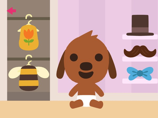 In addition to being cute, the app also contains lots of fun details. When you snap a photo of your dressed-up baby, for example, it will replace their framed photo on the nursery wall.