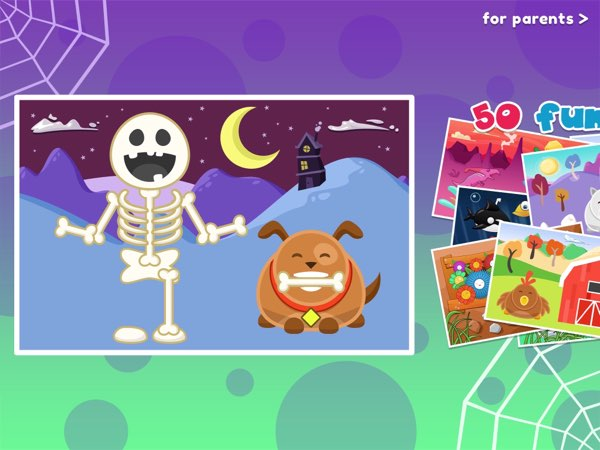 Wee Halloween Puzzles shows how Halloween-theme apps can still be funny. And if you like it, you should definitely try the full version of Wee Puzzles that features up to 50 new jigsaw puzzles.