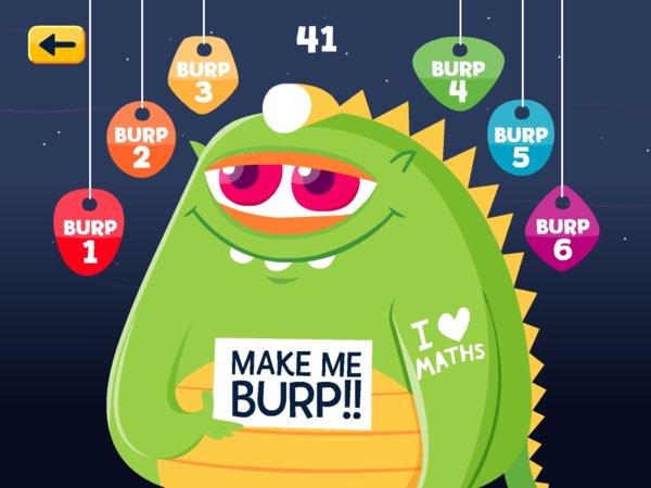 You can spend the coins to make the green space monsters burp.