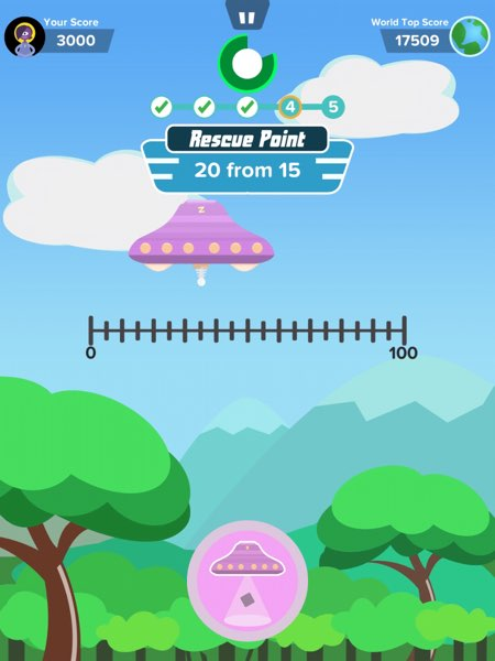 In the Rescue Line game, you practice your measurement skills by using rules of different scales.
