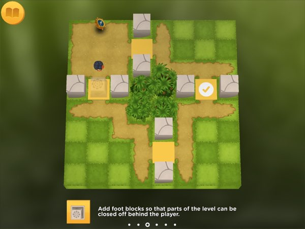 Before you start creating your own maze puzzles, the game provides seven tutorial levels that introduce you to the different elements of the game.