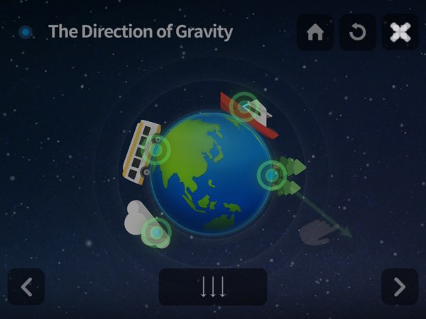 You Know Gravity allows you to play, experiment, and observe natural phenomena through its in-app simulation to help you grasp the concept.