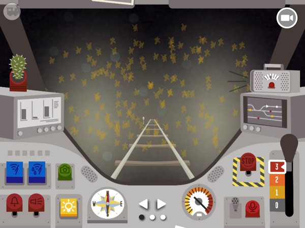 Use the virtual dashboard to role-play as a railroad engineer