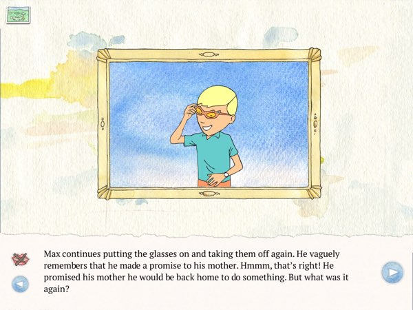 There are nine interactive scenes in Wunderglasses where you can see what it's like looking through the magical pair of glasses.