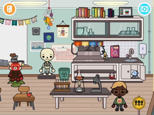 BEST ROLE-PLAYING APP FOR THREE-YEAR-OLDS: Toca Life: School lets kids explore everyday scenes and come up with their own stories