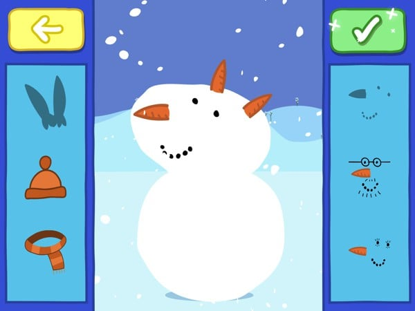 Help peppa and George build and decorate their snowman