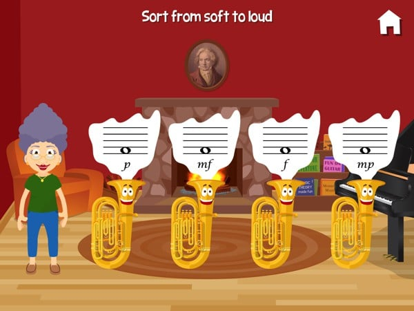 Music with Grandma helps kids remember basic music theory through interactive games and activities