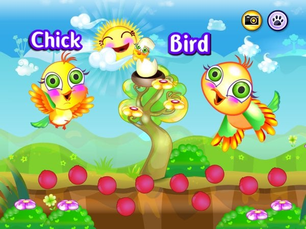 Baby Animals Learning Game allows you to take a selfie with both the animal and its babies right next to you.