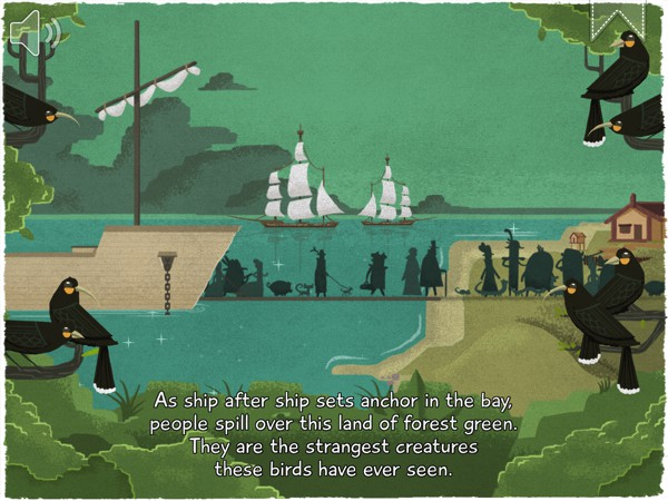 12 Huia Birds is an interactive, cautionary tale about the destruction of nature due to rapid deforestation and excessive hunting