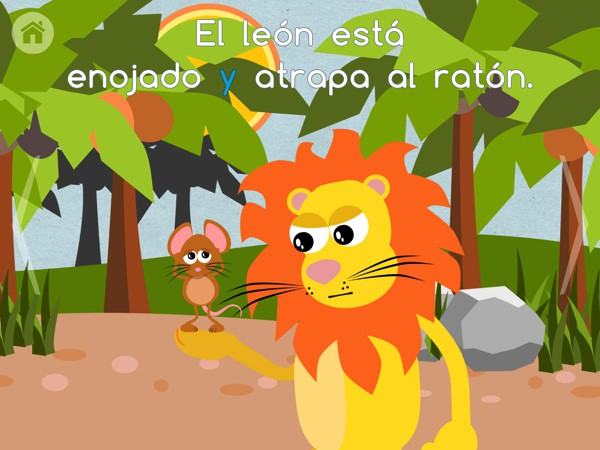 Stories by Gus on the Go helps children learn Spanish through familiar stories
