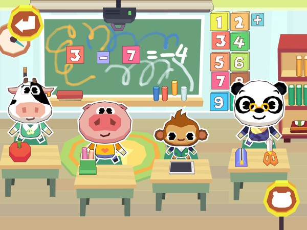 Dr. Panda School is a fun digital playset that lets kids create stories through exploring and role-playing