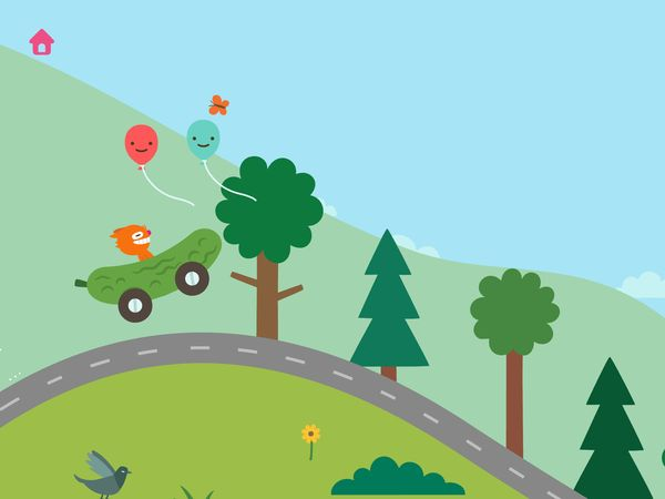 Sago Mini Road Trip is an open-ended driving game suitable for toddlers