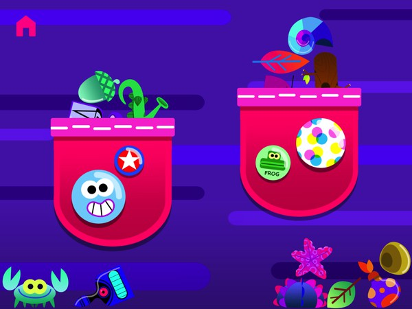 Kids can collect souvenirs by getting 80% correct answers on each level