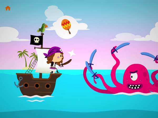 In Comomola Pirates, kids travel through land, sky, and sea to find the secret treasure