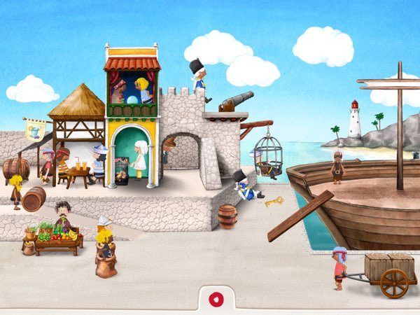 Tiny Pirates also allows you to experience the activities when you go to shore and explore the harbor.