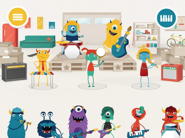 In Melody Jams, kids can assemble a kooky band and play their own songs