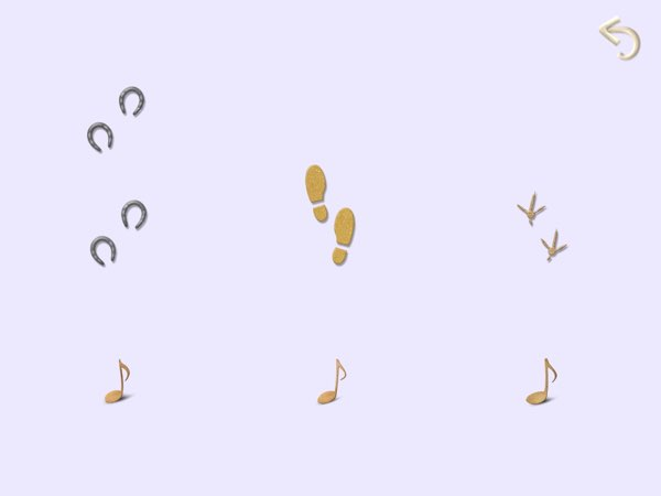 There are many tricky sound challenges in Sound Salad, including determining which footsteps match the sounds you hear.