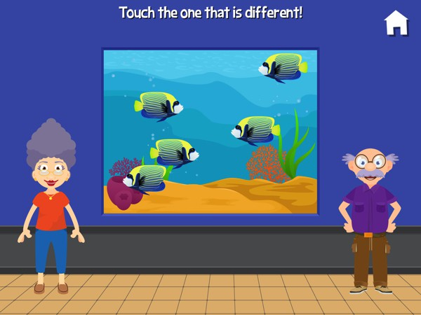 In this game, kids test their concentration and observation skills by finding the different fish
