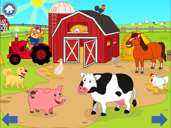 Babies and toddlers can discover what farm animals sound like in Nano Bear Farm Animals