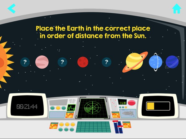In Cosmolander, kids can learn about the Solar System and take fun quizzes