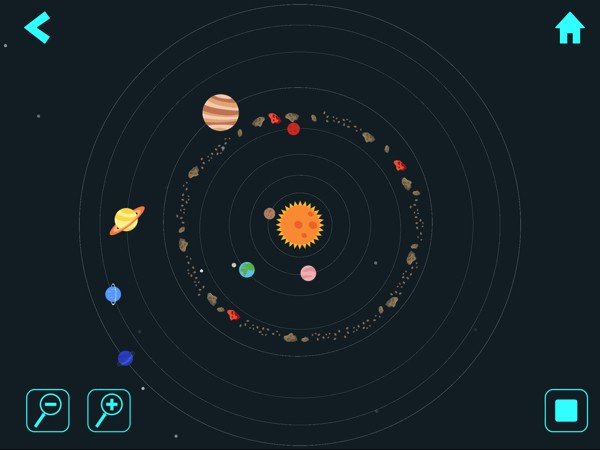 Press the play button to observe the Solar System in motion