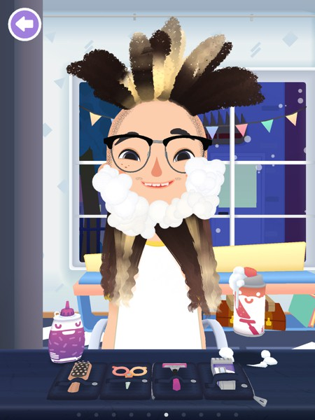 Every character can grow a beard in Toca Hair Salon 3