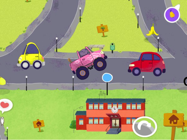 Beep Beep Alfie Atkins is a city builder game that teaches kids to keep their city clean