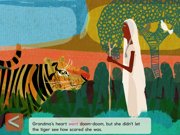 BEST STORYBOOK APP FOR FOUR-YEAR-OLDS: Grandma's Great Gourd is based on acharming Bengali folk tale