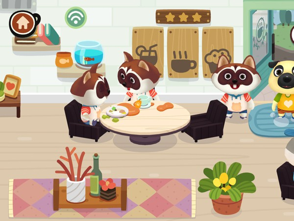 Run your own coffee shop in Dr. Panda Cafe