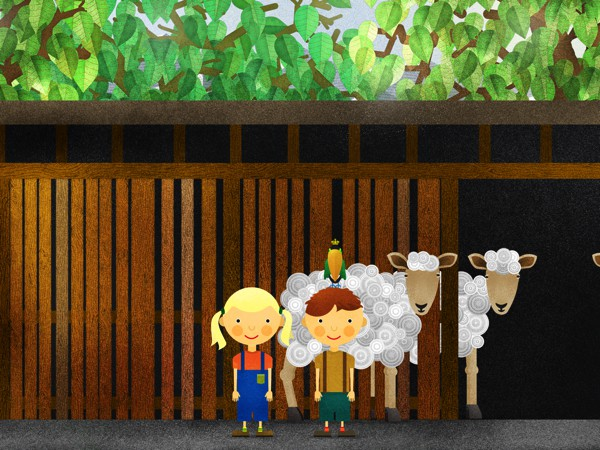 Together with Alma and Anker, kids explore the farm and discover its many surprises