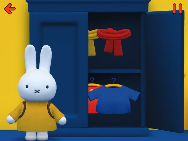 Kids follow Miffy as she goes about her day, and help her with various tasks