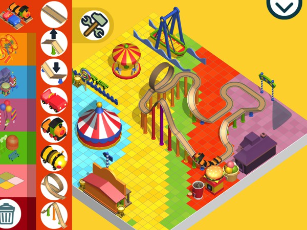 In Pango Build Park, kids can create their own amusement park