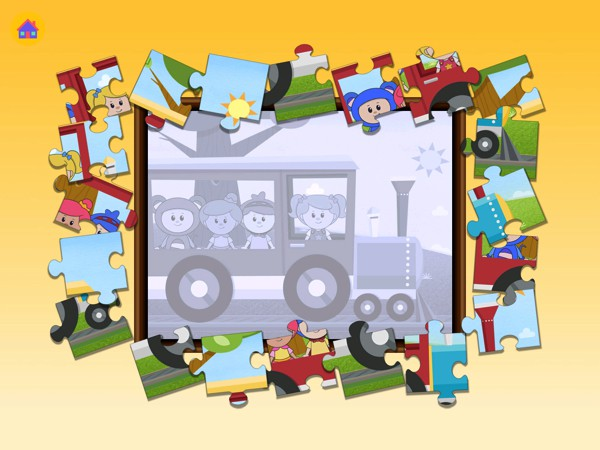 Kids can choose from various mini games, such as jigsaw puzzles and pairs