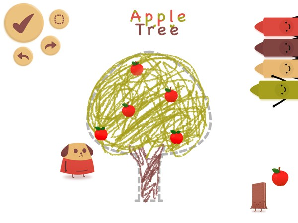 DogBiscuit is an interactive drawing book for kids