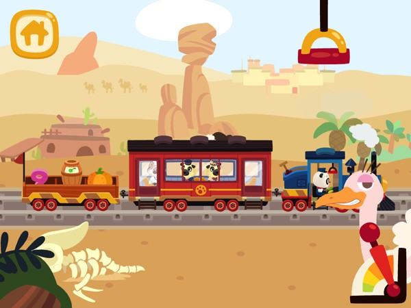 Look out for tons of surprises as the train rides through various environments