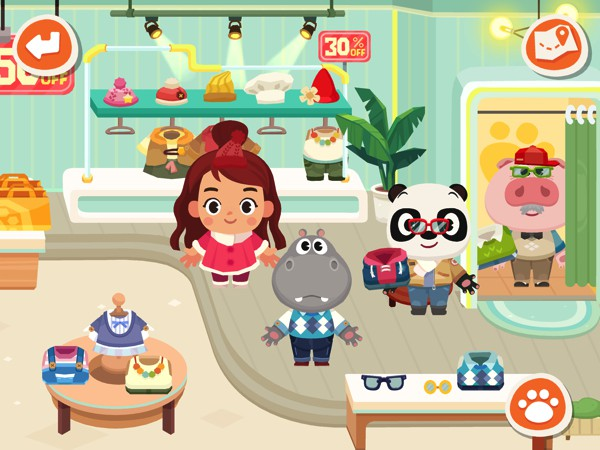 Go a fun-filled shopping spree in Dr. Panda Town: Mall